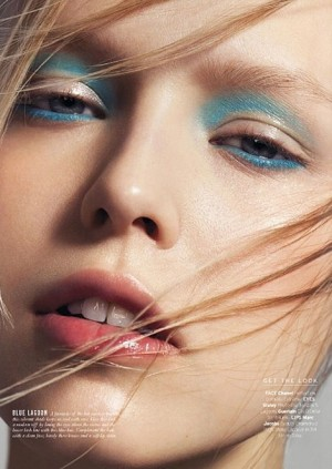 "Natasha Remarchuk for ELLE Singapore in the shooting ""True Colours"""