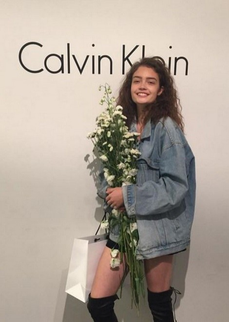 Sasha Kichigina for Calvin Klein Spring 2016 Presentation
