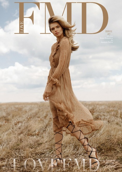 Katsia Domankova on the cover of Love FMD Magazine FW Issue 17