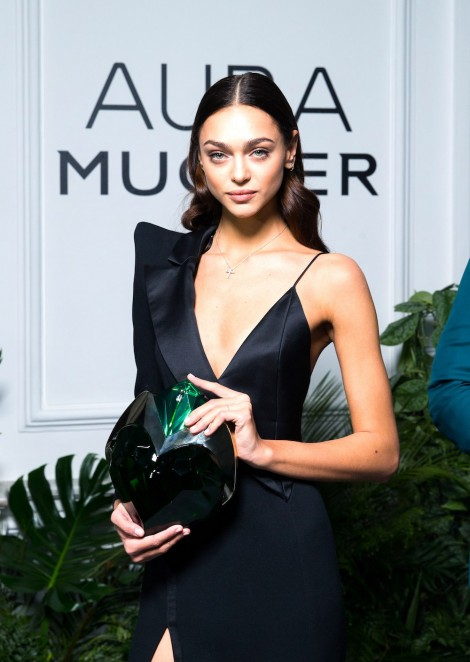 Zhenya Katava at AURA Mugler presentation in Moscow