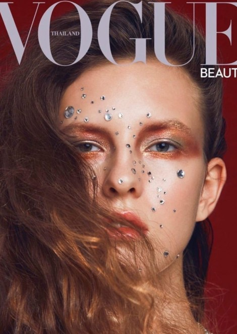 Kristina Markiyanovich on the cover of Vogue Beauty Thailand