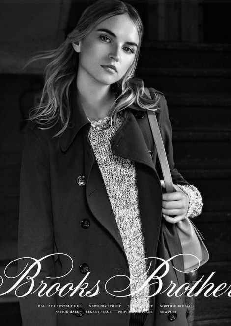 Анабела Беликова в рекламной кампании Brooks Brothers Women's Collection Spring 2016