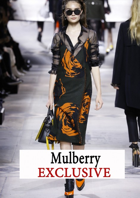 Cаша Кичигина @ Mulberry EXCLUSIVE / Fall Winter 2016 London