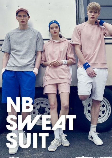 Майя Илькевич для коллекции New Balance Sweat Suit